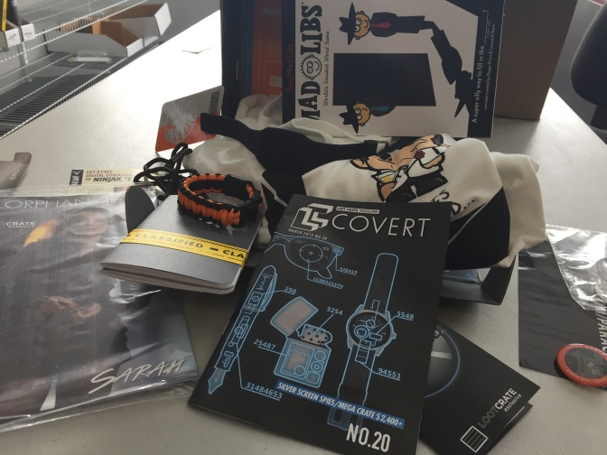 "[VIDEO] @lootcrate Unboxing for March 2015 – ""Covert"""